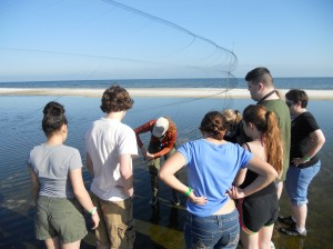 Audubon Nature Institute's Junior Keepers learn how to extract shorebirds from mist nets at Dauphin Island, AL.
